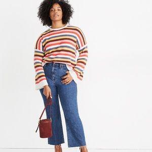 Madewell Cardiff Striped Sweater in Coziest Yarn